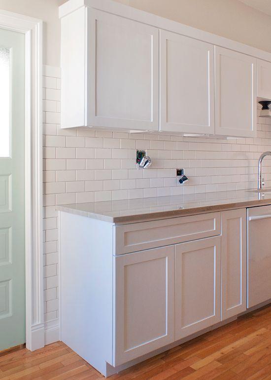 tile partway up the wall around cabinets Setting the Backsplash (via Bloglovin.com )