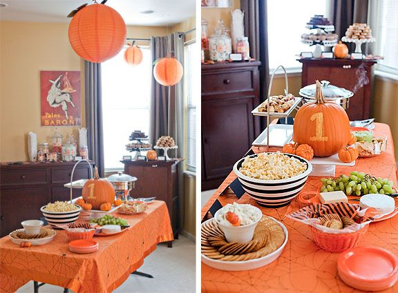 First Birthday Party - nice to put 1 on pumpkin