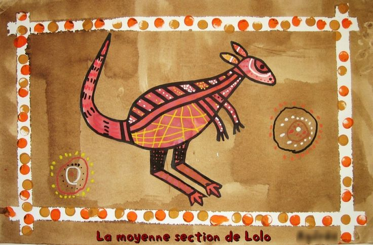 Australian Aboriginal art idea for kids from a French site