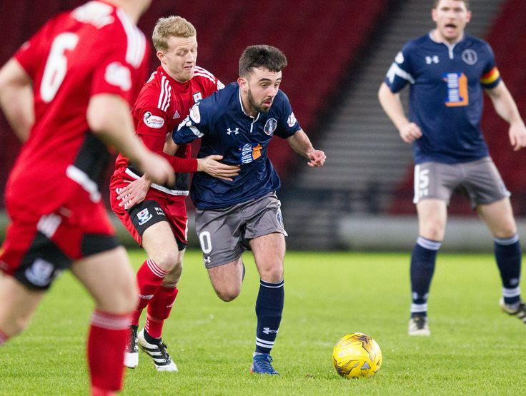 Queen's Park's Anton Brady in action during the Scottish Cup round 4 replay between Queen's Park and Ayr United.