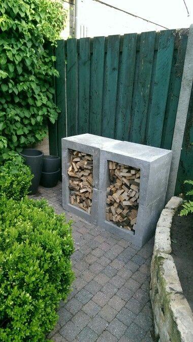 Hout opslag beton elementen