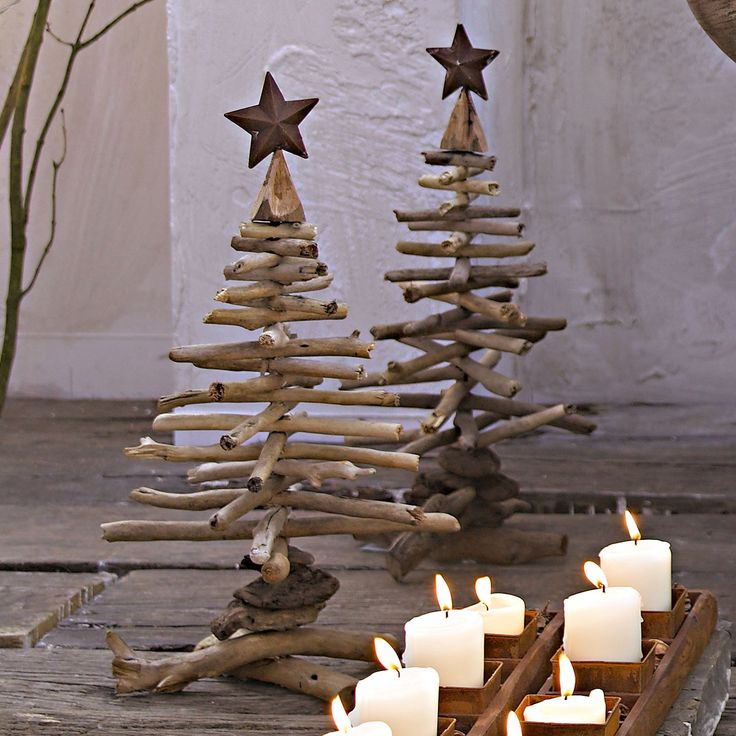 DIY Branches Christmas Trees