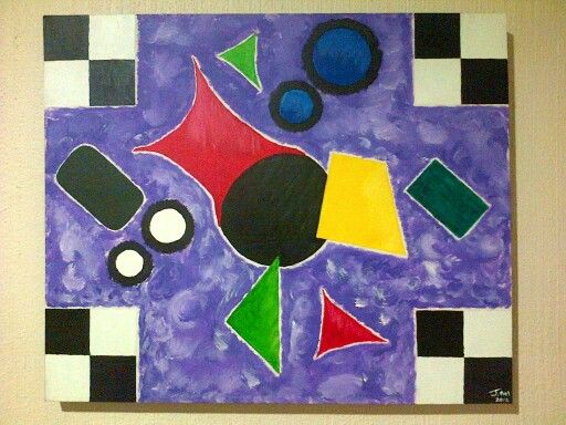 My first painting ever LoL. Forms lost in abstract.