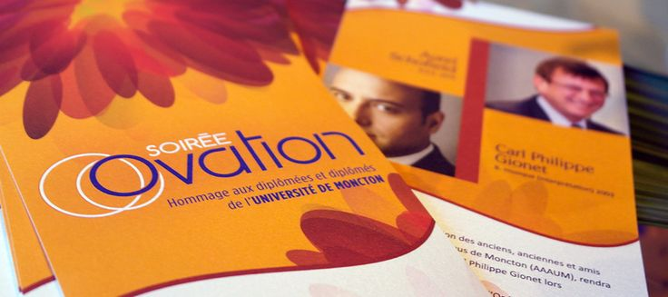 Program for Soirée Ovation Université de Moncton - iDConcept