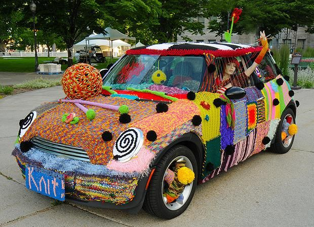 10 Ambitious Yarn Bombing Projects | Mental Floss