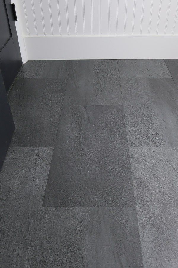 How To Easily Update A Bathroom Floor With Luxury Vinyl Tile That Looks Like Real Stone A Vinyl Flooring Bathroom Bathroom Vinyl Vinyl Plank Flooring Bathroom