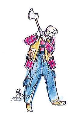 Abiti da Lavoro: qui V. Westwood e il suo abito da lavoro per i ragazzi di Arkadia Onlus. Sì, perché tutto è iniziato da un sfida: fare in modo che un gruppo di ragazzi disabili riesca ad inserirsi nel mondo del lavoro realizzando e vendendo abiti disegnati da progettisti famosi a livello internazionale