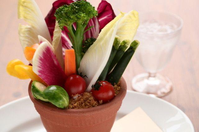 クッチーナ デル カンポ - 鉢植え野菜のバーニャカウダ
