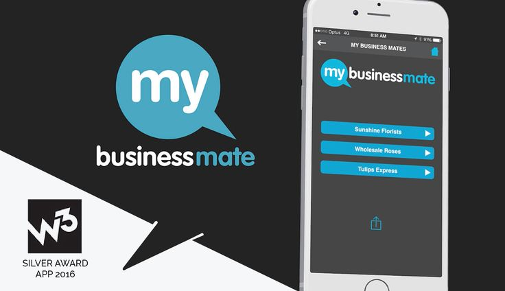 RGC Wins Silver at the 2016 W3 Awards for the My Business Mate iPhone App