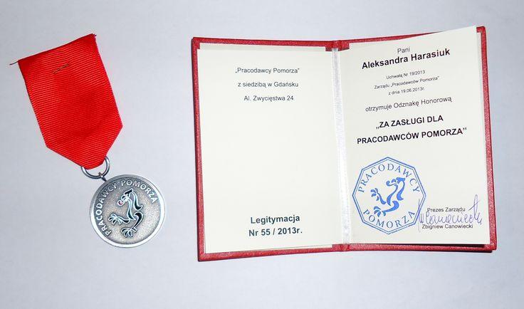 Odznaka Honorowa #pracodawcy #pracodawcypomorze