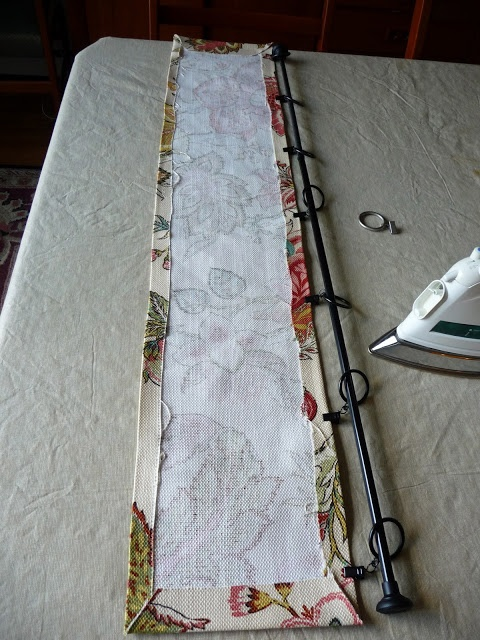 No-sew hanging valance tutorial  Dress up the top of your windows.