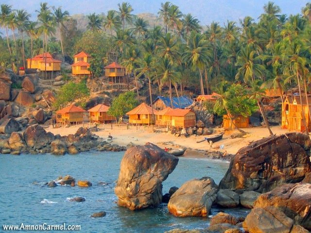 Location : Palolem beach, Goa.  It is largely unspoiled and is inhabited by both local fishermen and by foreign tourists who live in shacks along the shore or in the main village itself.  The Thai style beach is flooded with a mix of nationalities and has a unique culture of beach cottage accommodation.