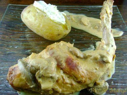 Lapin à la moutarde et au lait de coco