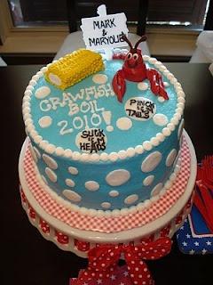 Crawfish baby shower cake