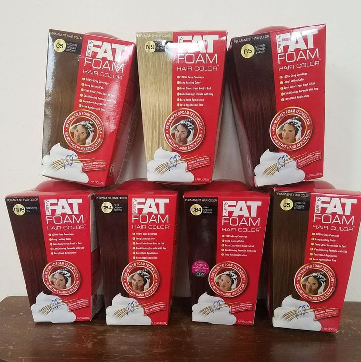 Lot of 7 Samy Fat Foam Hair Color Permanent - BRAND NEW - G5 RR6 C84 N9 R5  #Samy