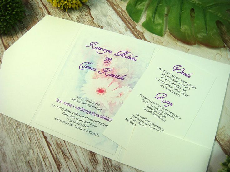zaproszenie ślubne w folderze Hk2