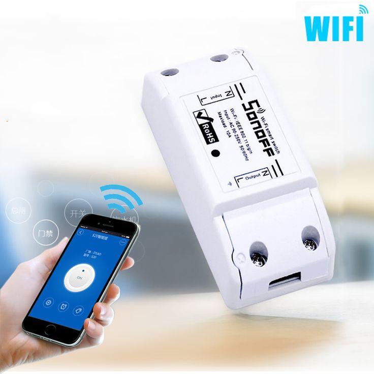 Lo nuevo WiFi Smart Switch Inalámbrico Inteligente BRICOLAJE Control Remoto Wifi Interruptor 10A/2200 W Temporizador Interruptor Wifi Para Smart casa