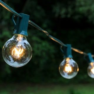 Electric Globe String Lights with 25 Lights | Overstock.com Shopping - The Best Deals on Wired Landscape Lighting