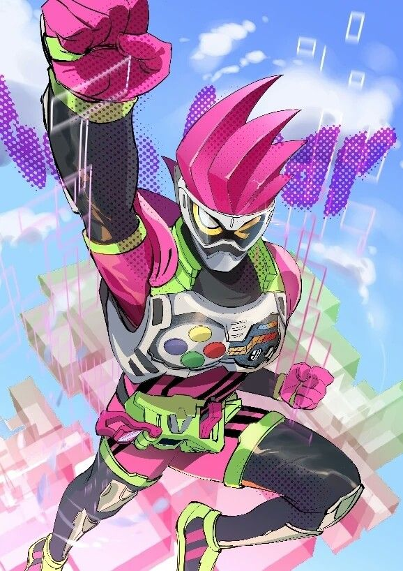 Pin Oleh Luigtails Superrealbro3 Produc Di Kamen Rider Ex Aid Animasi Gambar Seni