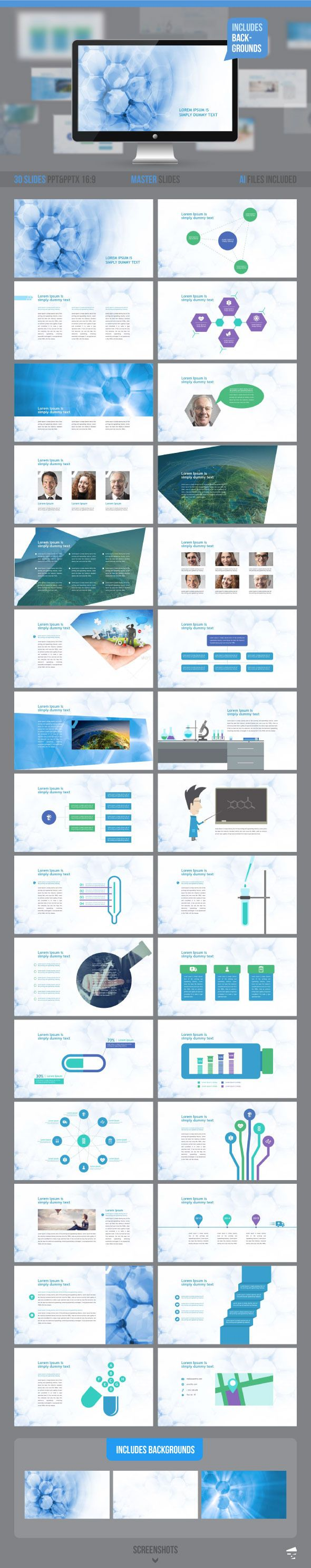 Medical Professional Presentation Template #design Download…