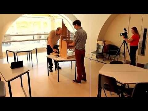 First performance of the reproduction Roman Hydraulis Organ at Bath - YouTube