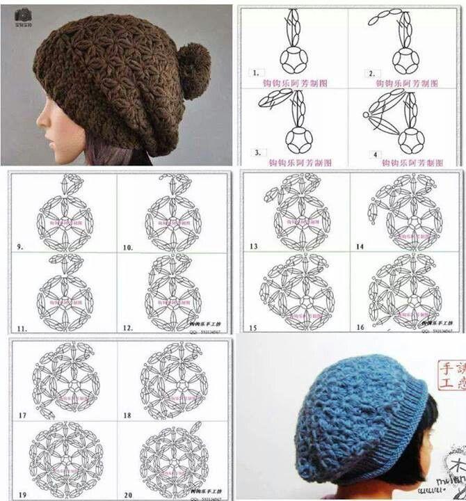 142 best Gorros de lana y cuelos images on Pinterest | Knit hats ...