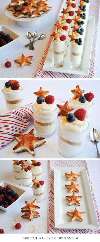 Tiros patrióticos cheesecake para 04 de julho |  por Carrie Sellman para…