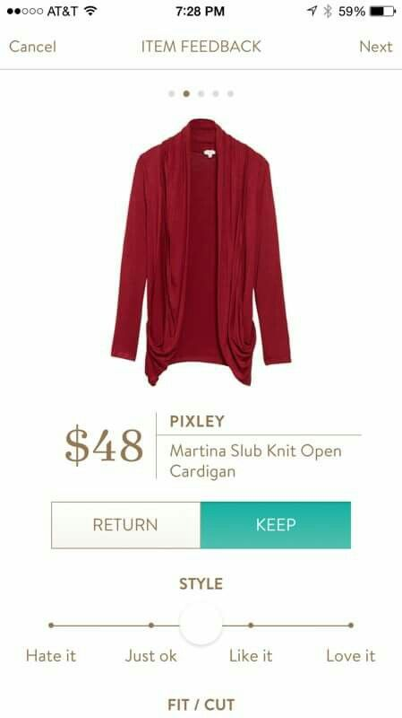 SF stylist! I really want this in Black or Maroon. Pixley Martina slub knit open cardigan