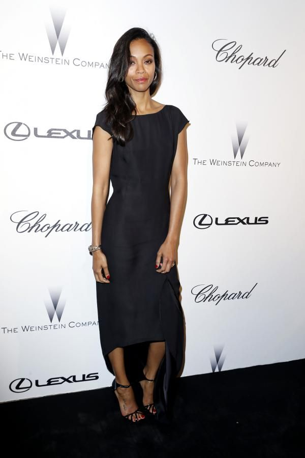 Zoe Saldana at The Weinstein Company Party in Cannes Hosted by Chopard   - Modenese & Modenese