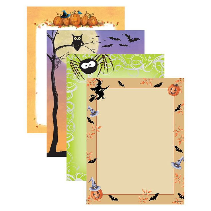 This Halloween variety pack of printer paper features four different Halloween designs (25 sheets of each). The 8 1/2″ x 11″ stationary paper runs smoothly through inkjet printers, laser printers and copiers.