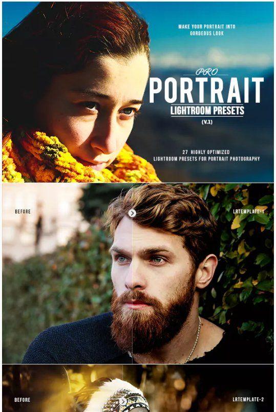 Pro Portrait Lightroom presets download free  zip for lightroom and