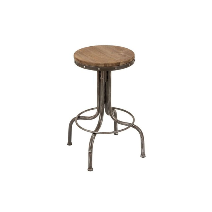 Uma Metal And Wood Bar Stool: Wood Bars