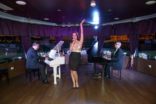 Budapest Piano Cruise  http://www.silver-line.hu/