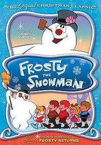 Frosty the Snowman is an American animated television special based on the popular song of the same title. The program, which first aired on December 7, 1969 on CBS (where it has aired ever since), was produced for television by Rankin/Bass and featured the voices of comedians Jimmy Durante as narrator and Jackie Vernon as the titular character. This special marked the first use of traditional cel animation (as opposed to stop-motion animation) for Rankin/Bass in a Christmas special.