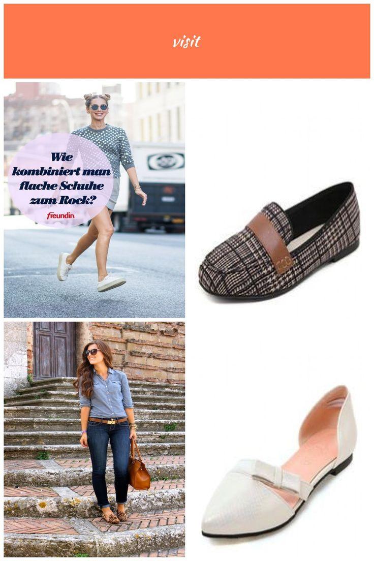 Schuhe kombinieren: Flache Schuhe zum Rock tragen: Wie geht das?  #Das #Flache #…
