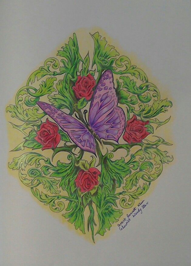 Coloured With Marco Raffines And WH Smith Pencils From Colour My Sketchbook By ColouringColoring BooksSketchbooksArt