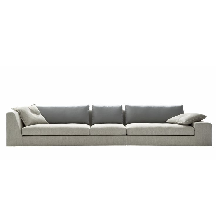 Ligne Roset sofa 'Exclusif'. Available as sectional, and you can choose between the trapezoid and flat armrests shown in the pic.