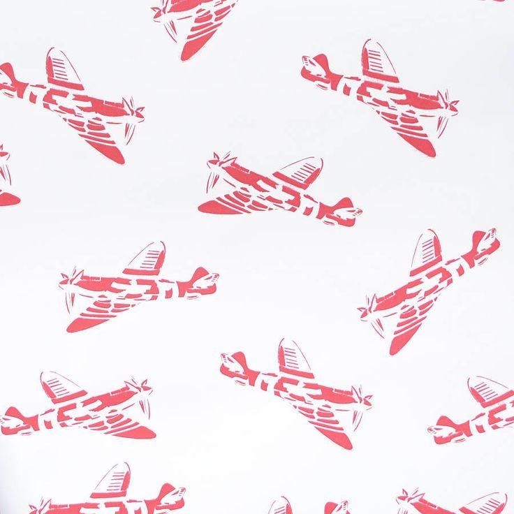 sample 'spitfires' aeroplane wallpaper by paperboy wallpaper   notonthehighstreet.com