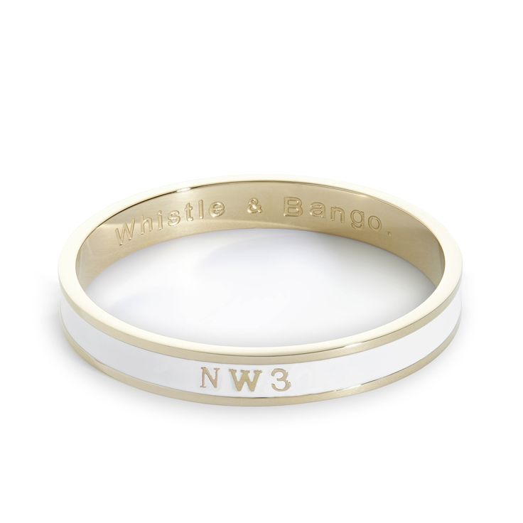The NW3 Postcode Bangle is now back in stock. Celebrate Primrose Hill, London, with this beautifully embossed accessory. £69    #london #jewellery #fashion #housewarming #gift #girl #bangle #primrosehill #postcode #london