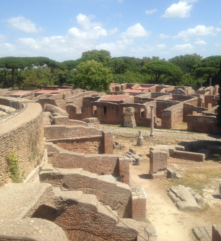 View from amphitheater at Ostia Antica, day 4.