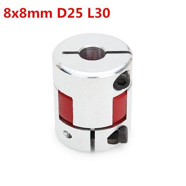 8mmx8mm OD25mm x L30mm Aluminum Flexible Spider Shaft Coupling CNC Stepper Motor Coupler Connector