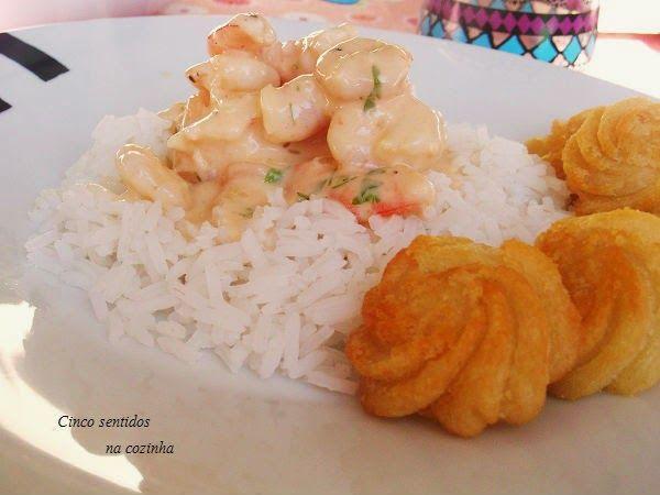 Cinco sentidos na cozinha: Strogonoff de camarão