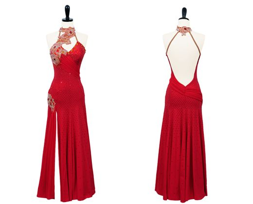 """""""Rosetta Stone"""" Smooth and Standard Ballroom Competition Dress from Encore Ballroom Couture"""