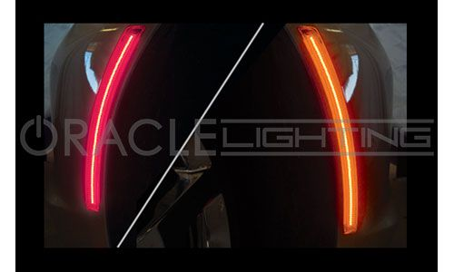 C7 Corvette ORACLE Concept Sidemarker Set  Concept SMD Sidemarker lights are complete sidemarker replacements fitted with high powered 3528 Bridgelux LEDs that produce a laser-like appearance. Installation is easy! Just pop out the factory sidemarkers and connect the new ORACLE Concept Sidemarkers right into the stock plugs.