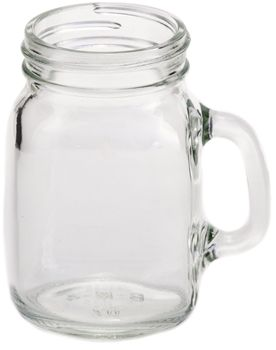 4 oz MugShot Mini Mug - this is a tiny version of our Handled Mason Jar Mug...only 4oz!  #masonjarshot
