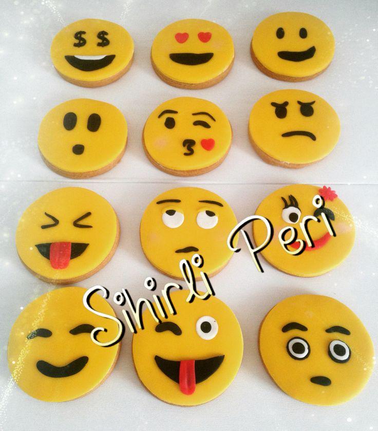 Emoji kurabiye emoji cookies butikpasta butikkurabiye