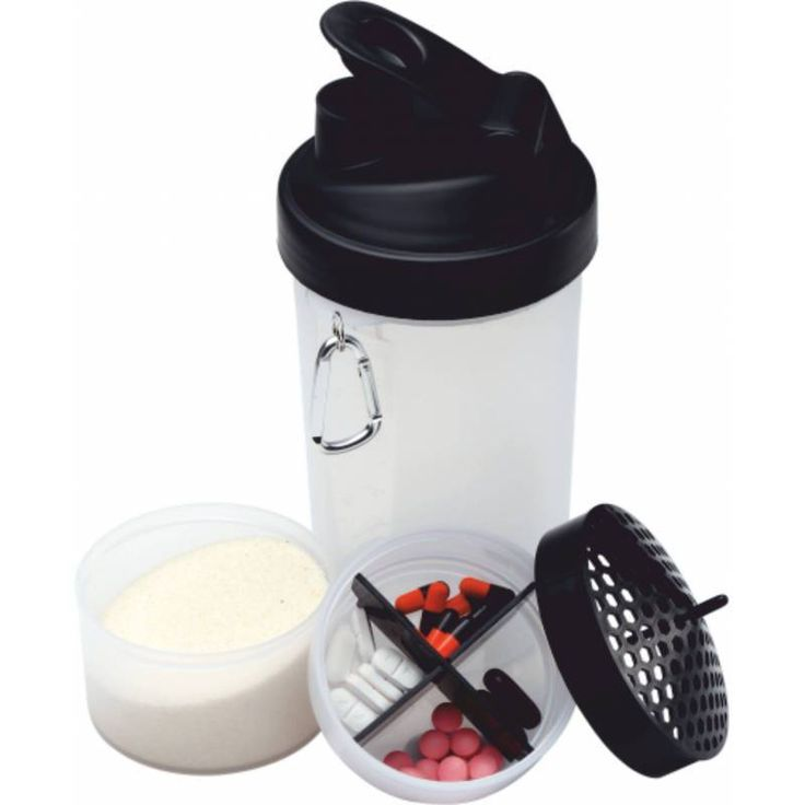 POWER SHAKER Protein Blender Mixer Bottle Cup 3 in 1 #Unbranded
