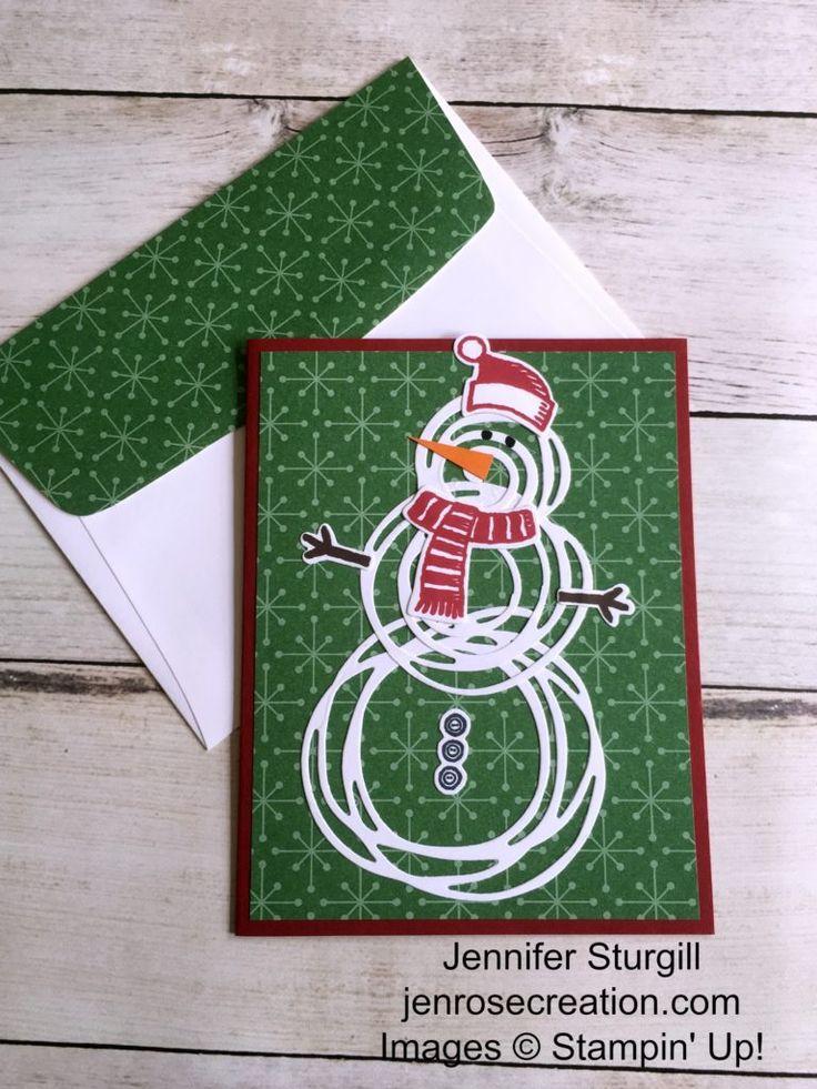 Swirly Bird Snowman, Jen Rose Creation, Stampin' Up!, Jennifer Sturgill, Snow…