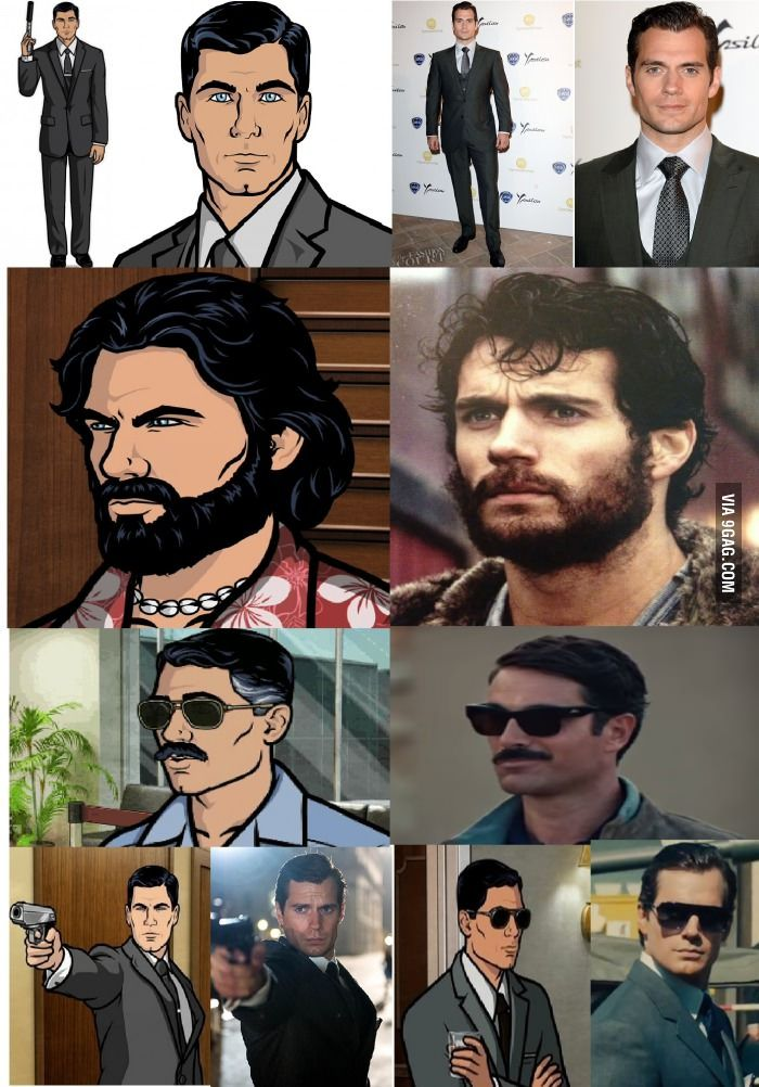 Henry Cavill is exactly like Sterling Archer; just make the dam movie already, take my money!