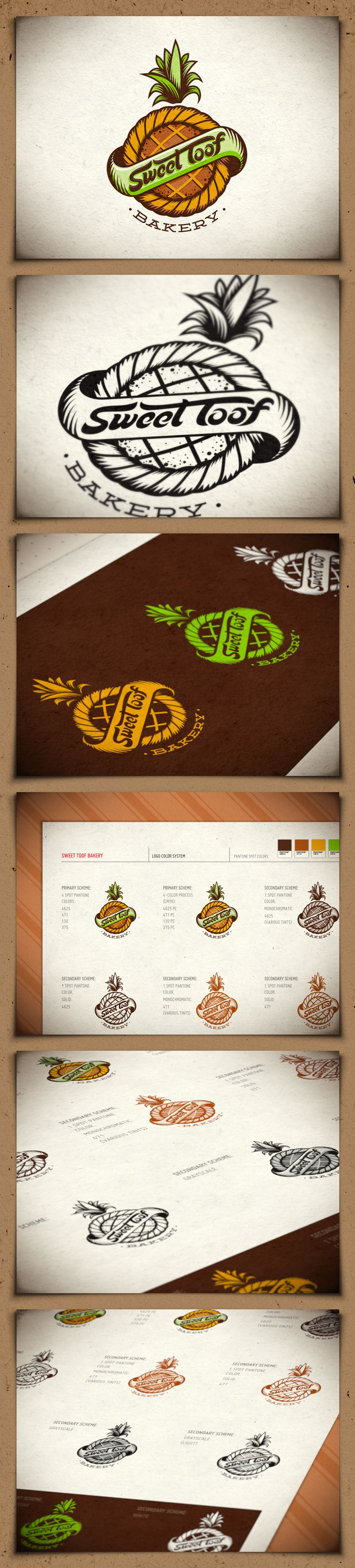 Sweet Toof bakery identity - FINAL. Really like this logo a lot. Creative, simple very nice.